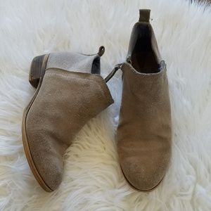 Tom's Tan Suede Ankle Booties
